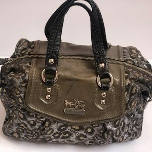 Coach 14289 Madison Audrey Ocelot Jacquard Leather